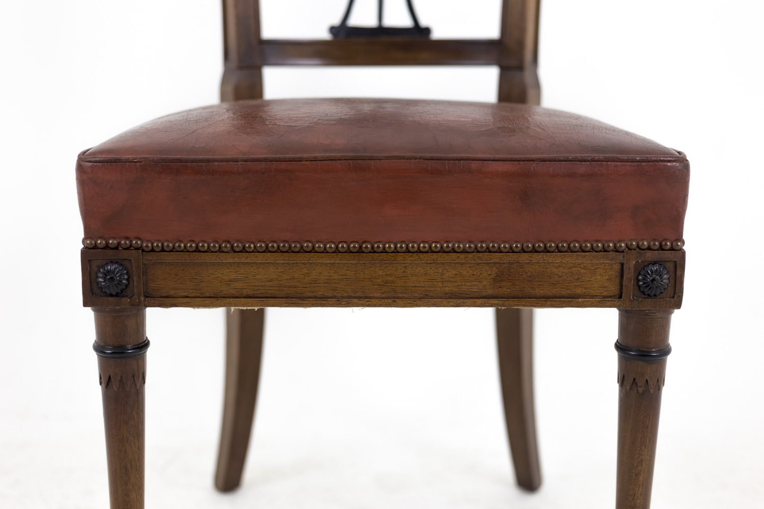 Outstanding Set Of 6 Directoire Style Chairs In Mahogany Early 20Th Century Pabps2019 Chair Design Images Pabps2019Com