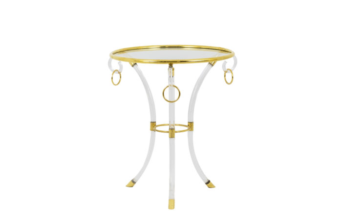 charles hollis jones stand lucite gilt brass