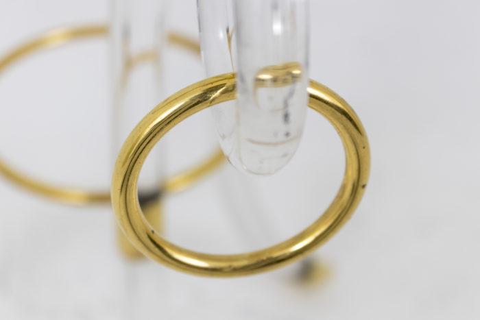 charles hollis jones guéridon lucite anneau laiton doré