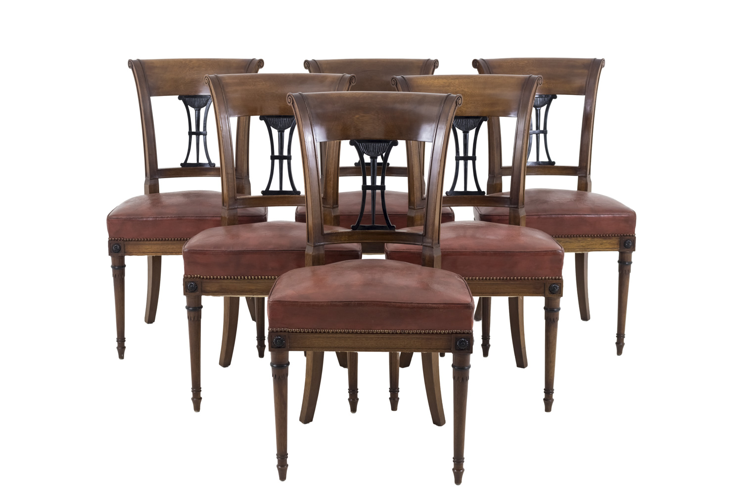 Fantastic Set Of 6 Directoire Style Chairs In Mahogany Early 20Th Century Pabps2019 Chair Design Images Pabps2019Com
