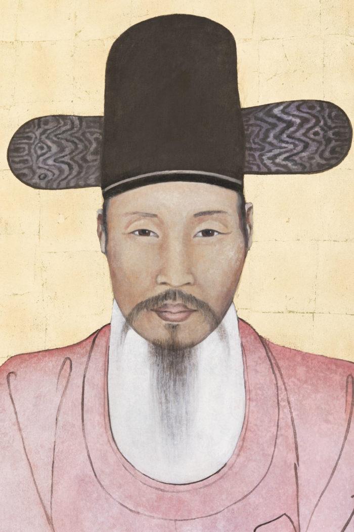 toile dignitaire chinois portrait