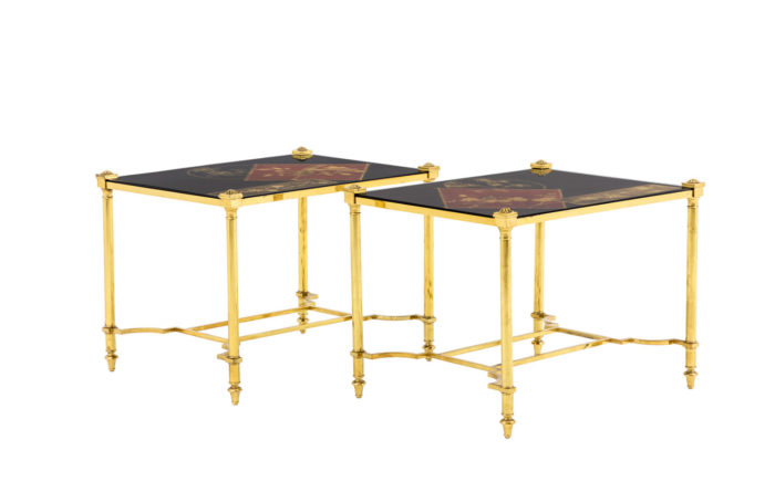 end tables chinese lacquer gilt brass