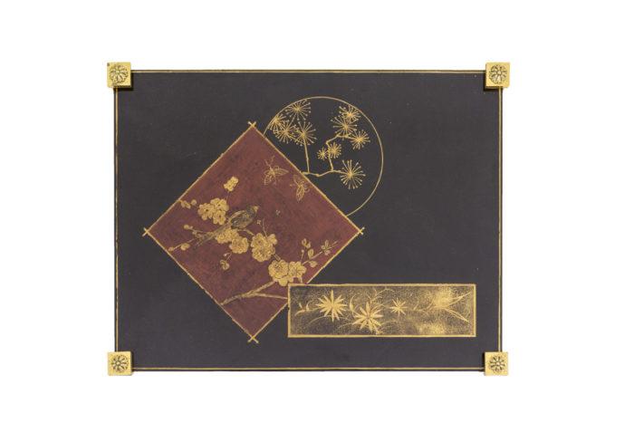 bouts de canapé laque décor chinoisant