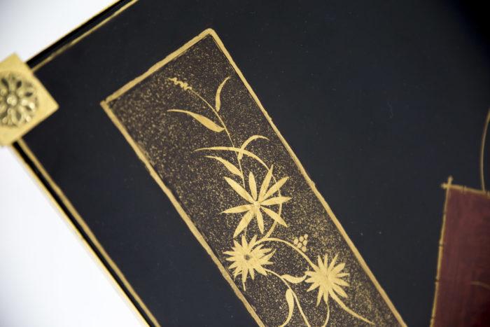 bouts de canapé laque décor chinoisant rectangle