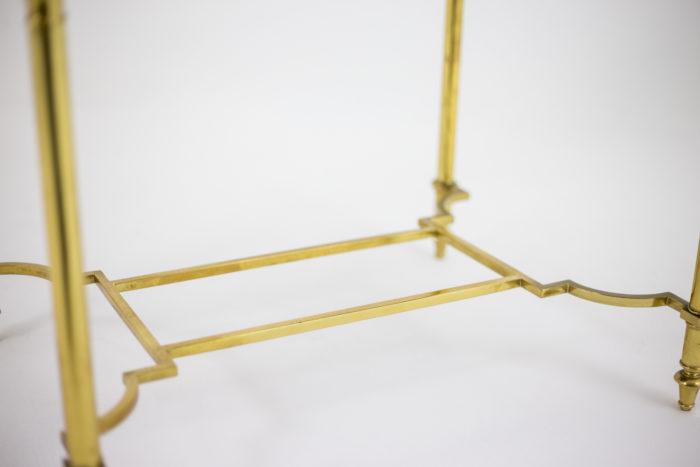 bouts de canapé laque laiton doré entretoise