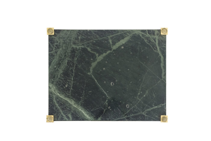 bouts de canapé marbre vert