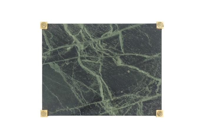 bouts de canapé plateau marbre vert