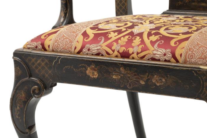 fauteuil chippendale chinoisant ceinture doré