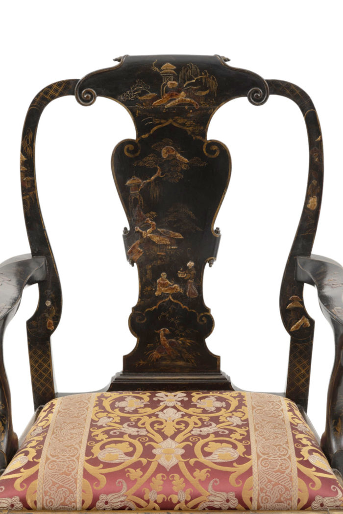 fauteuil chippendale chinoisant dossier