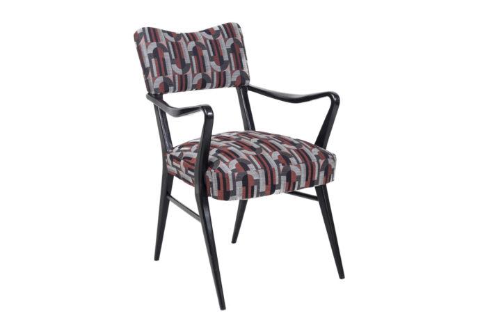 fauteuil italien style ico parisi laque noire angle