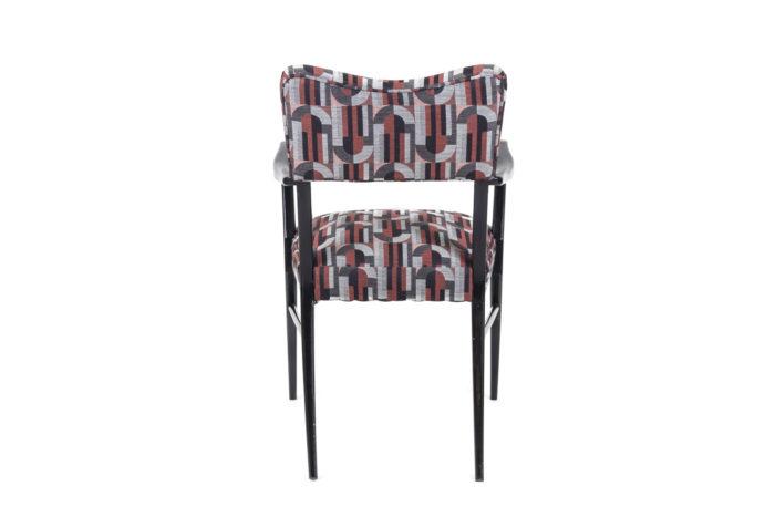 fauteuil italien style ico parisi laque noire dos