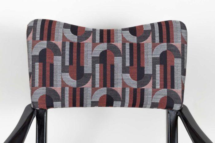 fauteuil italien style ico parisi laque noire dossier
