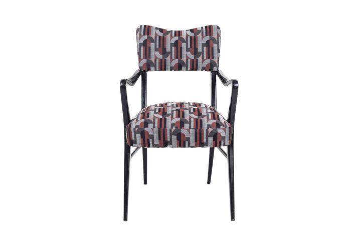 fauteuil italien style ico parisi laque noire face