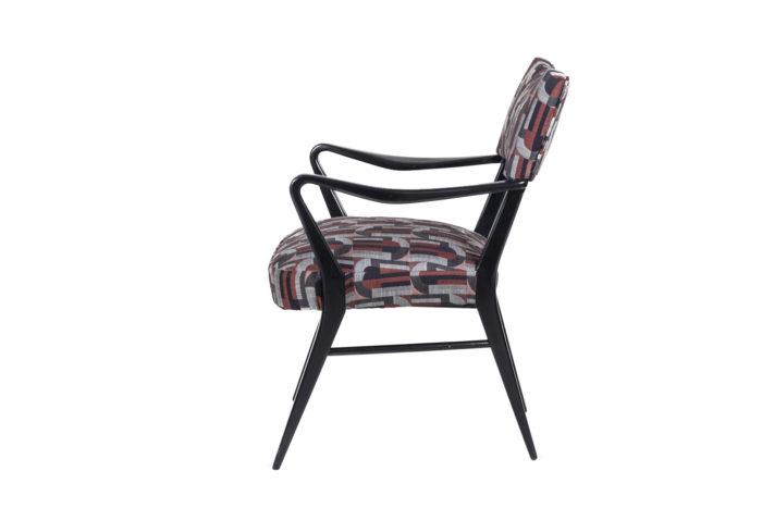 fauteuil italien style ico parisi laque noire side 2
