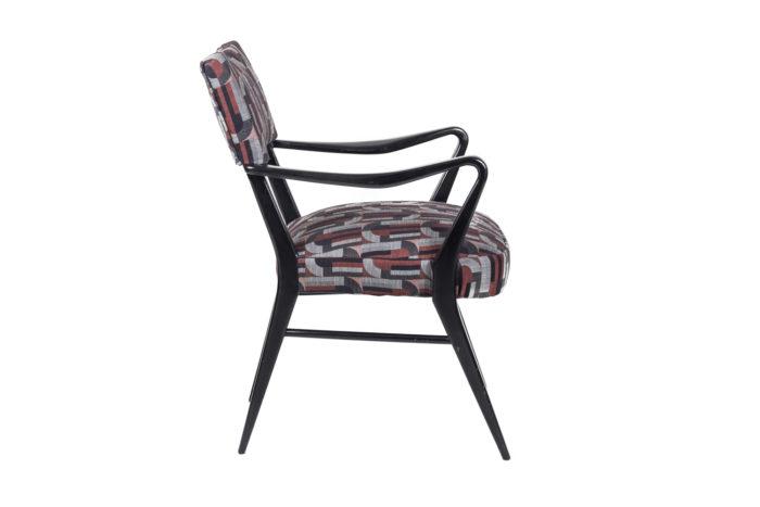 fauteuil italien style ico parisi laque noire side