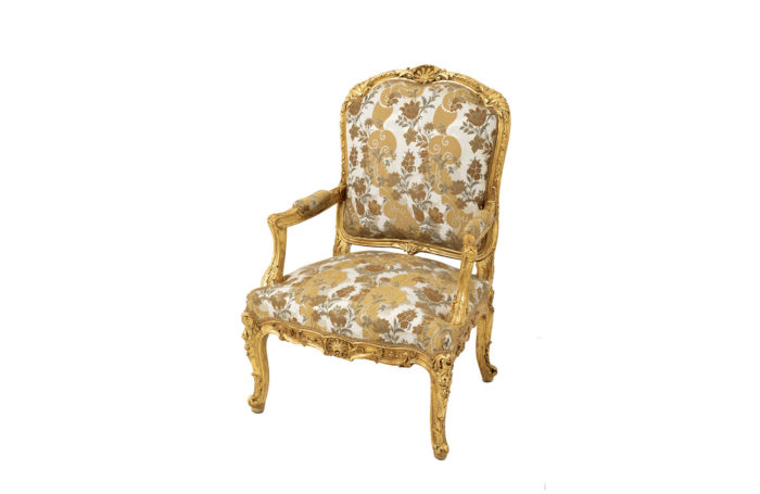 louis xv style armchair gilt wood