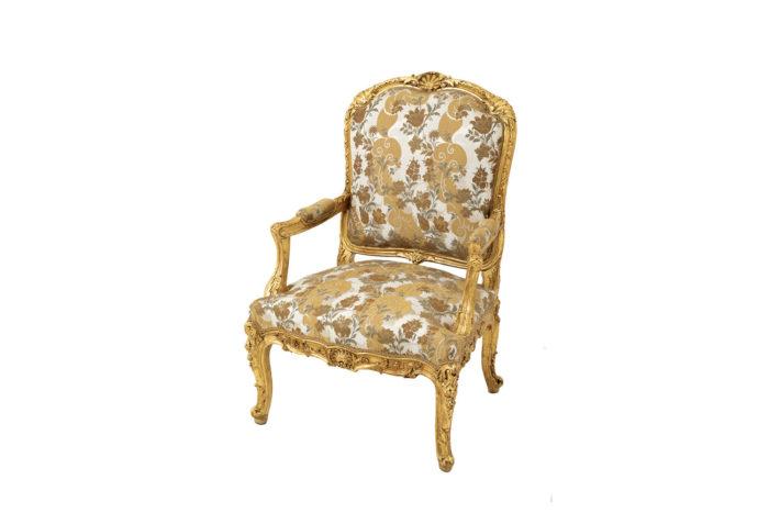 fauteuil style louis XV bois doré