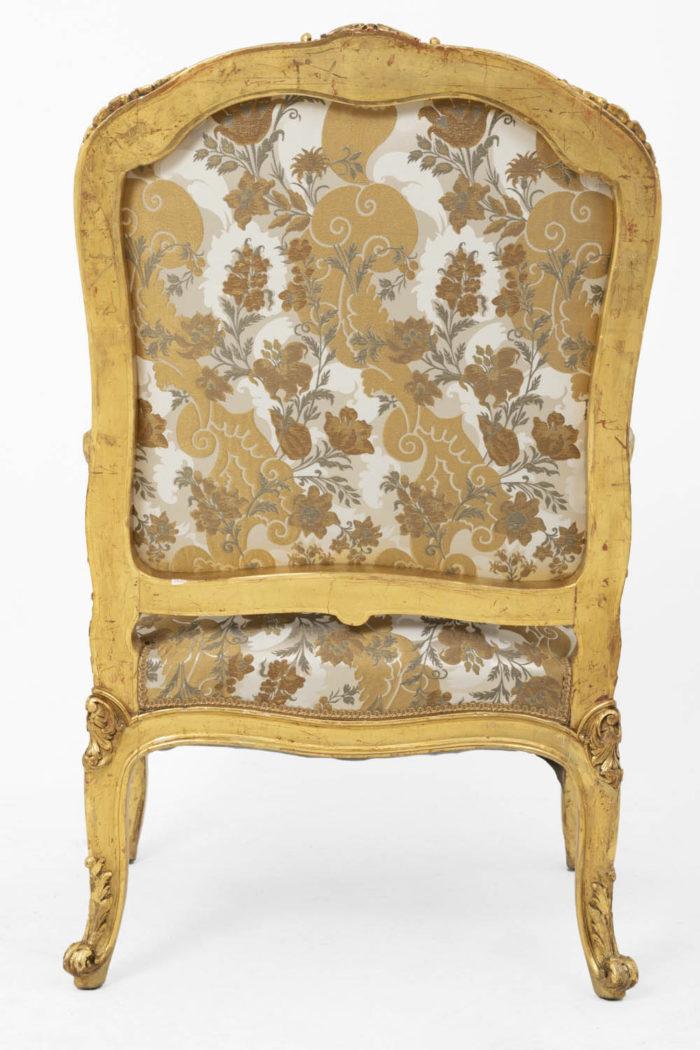 fauteuil style louis XV bois doré dos