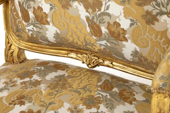 fauteuil style louis XV bois doré dossier (2)