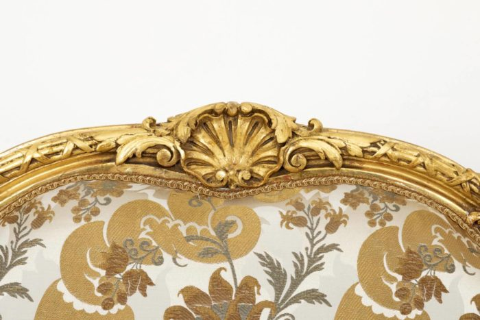 fauteuil style louis XV coquille