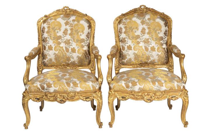 fauteuils style louis xv bois doré