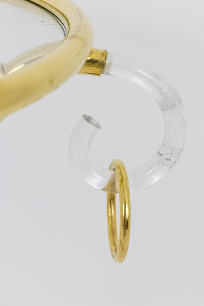 hollis jones gueridon lucite laiton doré anneau