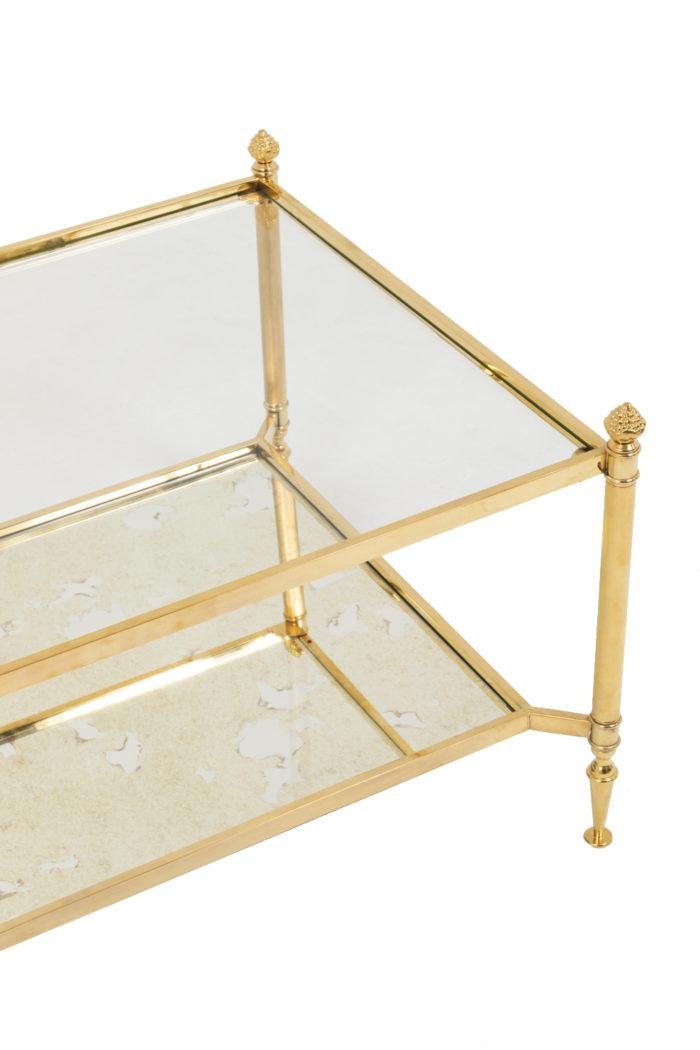 jansen table basse laiton doré