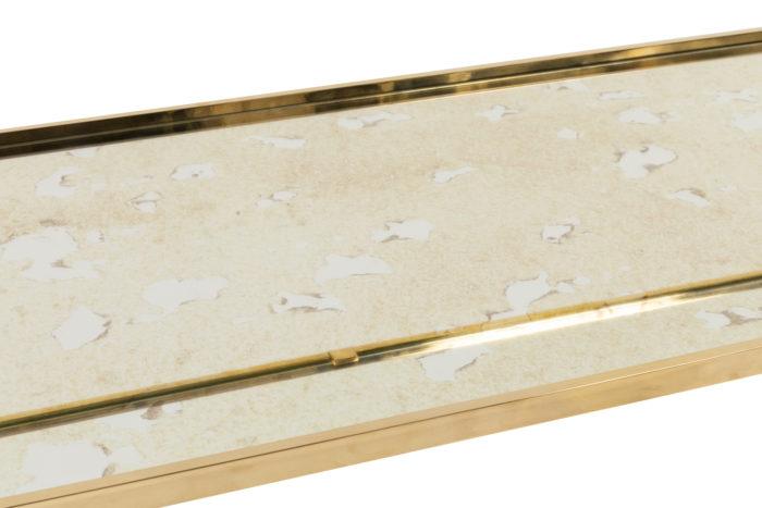 jansen table basse miroir oxydé