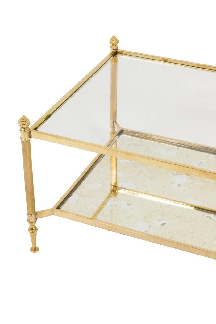 jansen table basse verre laiton doré
