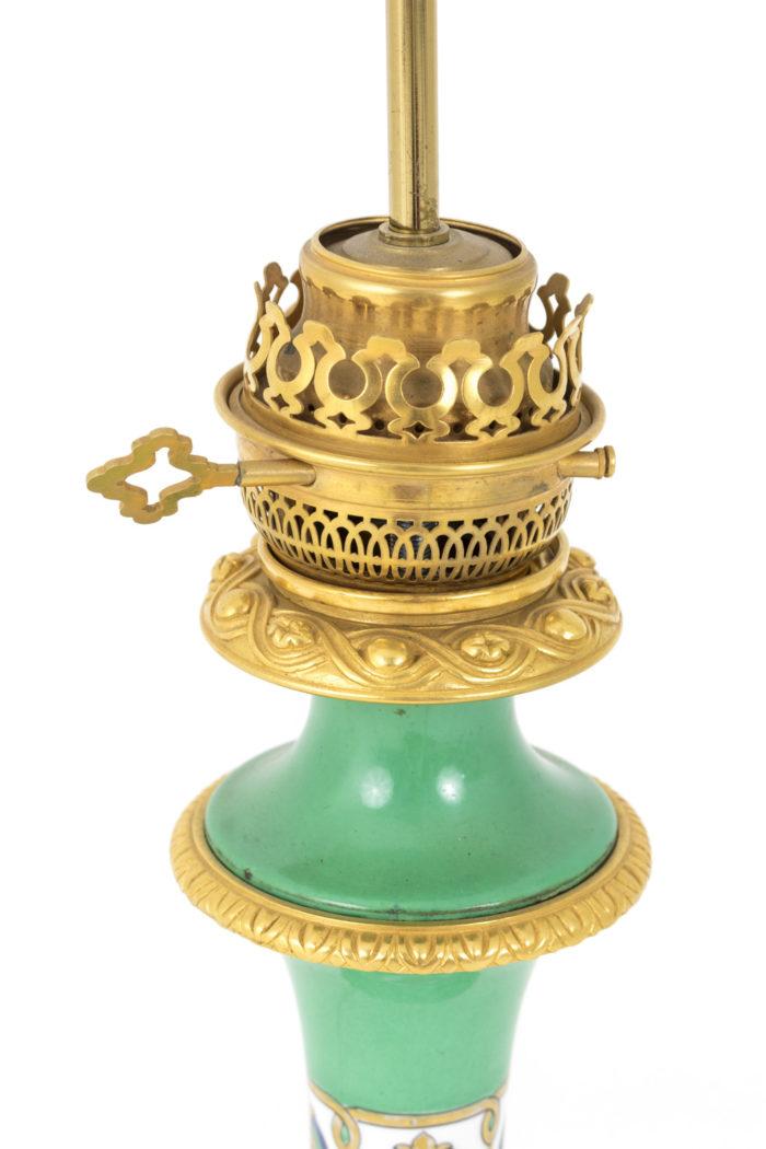 lampes porcelaine de paris bronze doré ajouré
