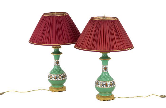 lampes porcelaine de paris verte