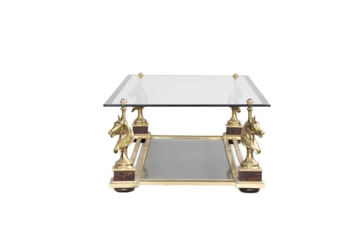 maison charles table basse cheval bronze doré