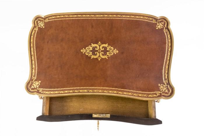 petite table style louis xv plateau cuir