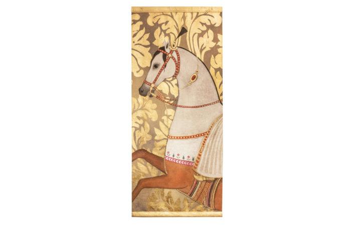 toile peinte cheval arabe