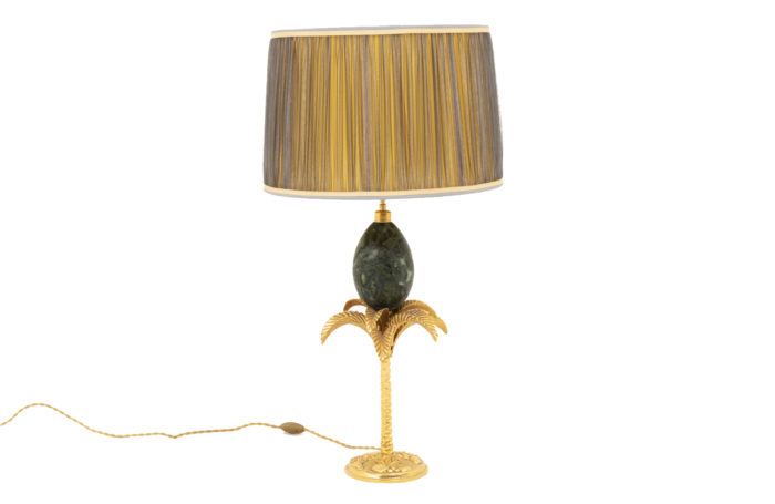 maison charles palm tree lamp marble egg