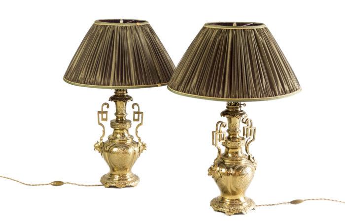 arabian style lamps gilt brass