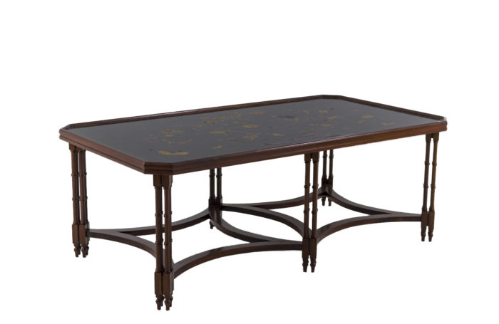 madeleine castaing coffee table mahogany lacquer