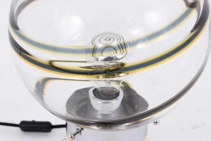 toni zuccheri lampe globe verre spirale