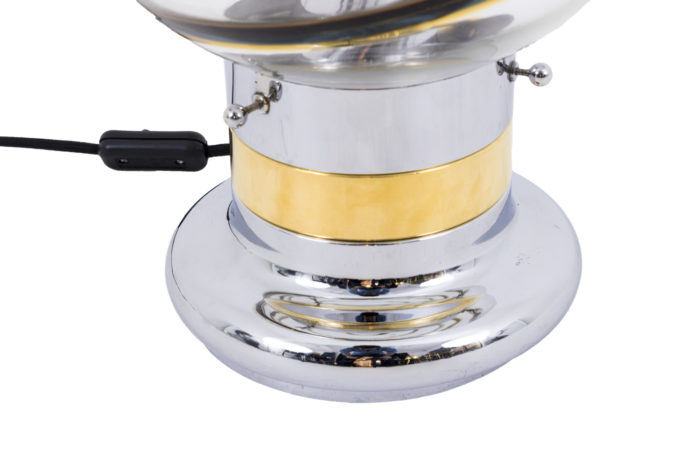 toni zuccheri lampe base chromée et dorée