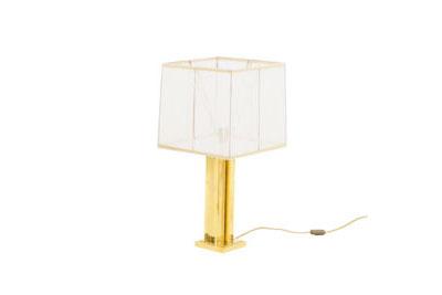modern gilt brass lamp geometrical shaft