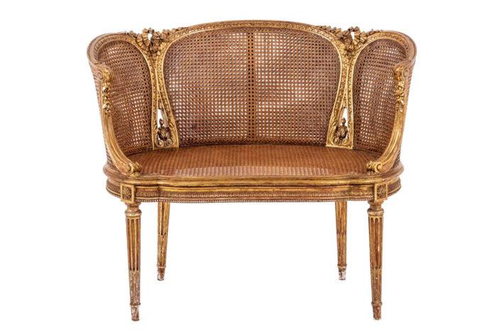canape style louis xvi canne assise sans coussin