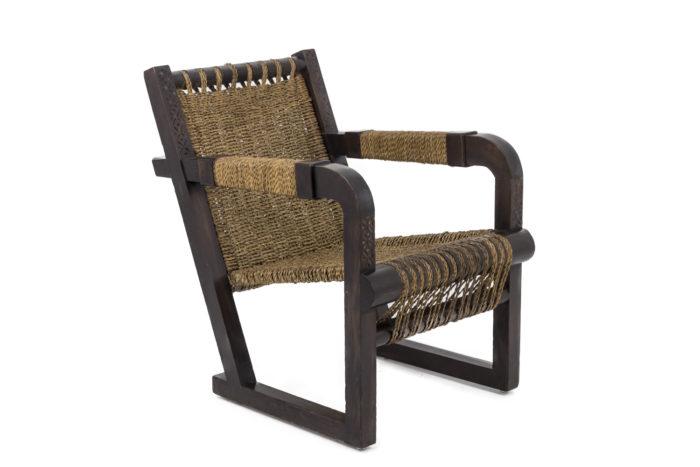 fauteuil art deco francis jourdain corde angle
