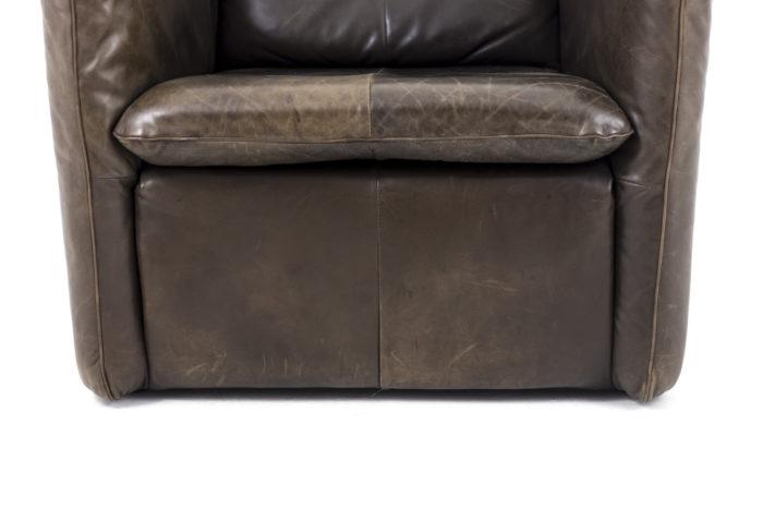 fauteuil cuir montis bas