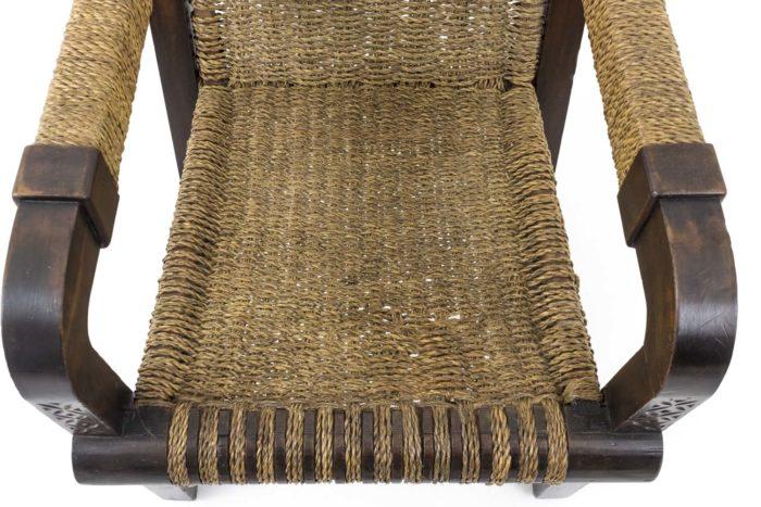 fauteuil francis jourdain art deco corde assise
