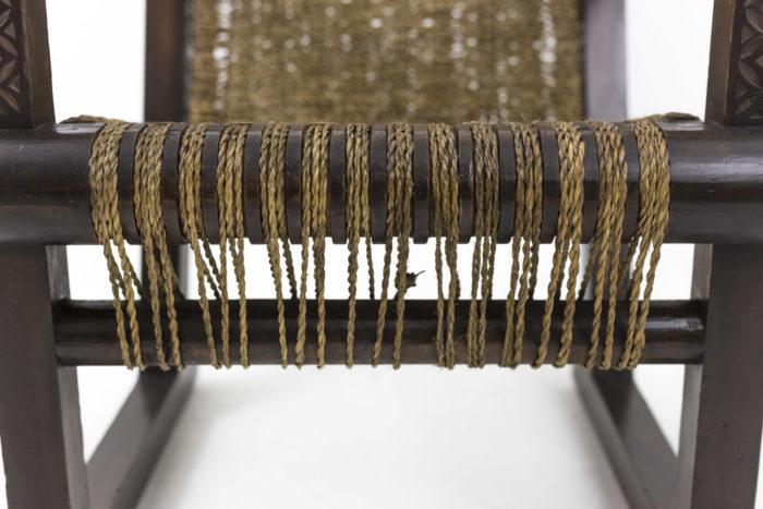 fauteuil francis jourdain art deco corde bas