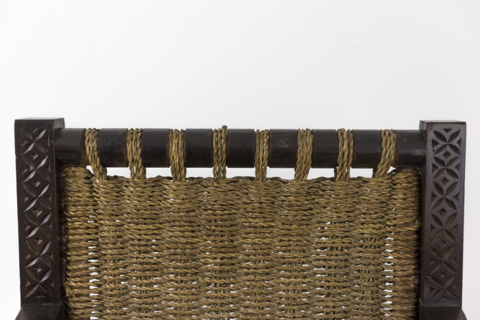 fauteuil francis jourdain art deco corde dossier haut
