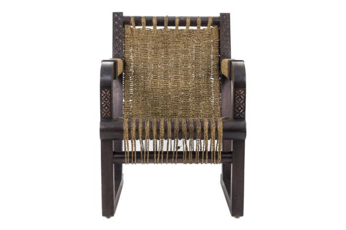fauteuil francis jourdain art deco corde face