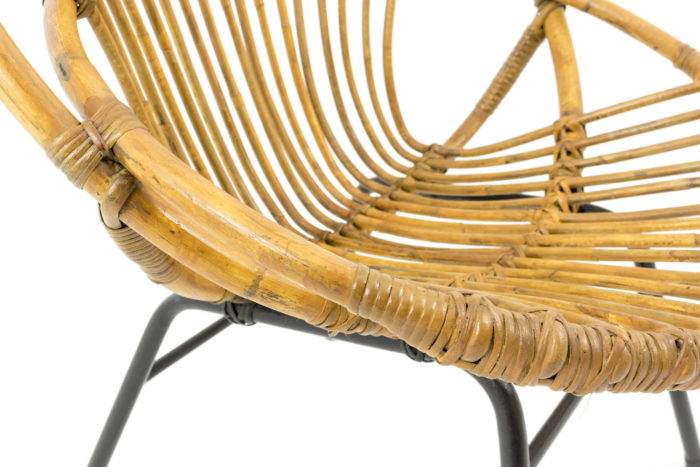 fauteuil rotin detail assise