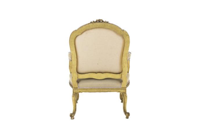 fauteuil style transition bois doré dos