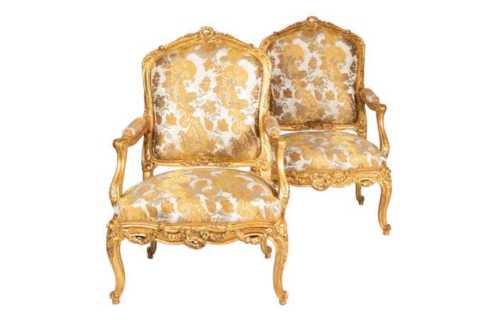 fauteuils-style-louis-xv-bois-doré-tissu-rubelli